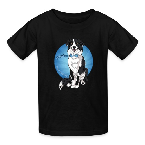 Border Collie Frankie Full Colour With Name - Kids' T-Shirt