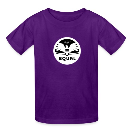 ascoutisequalbw png - Kids' T-Shirt