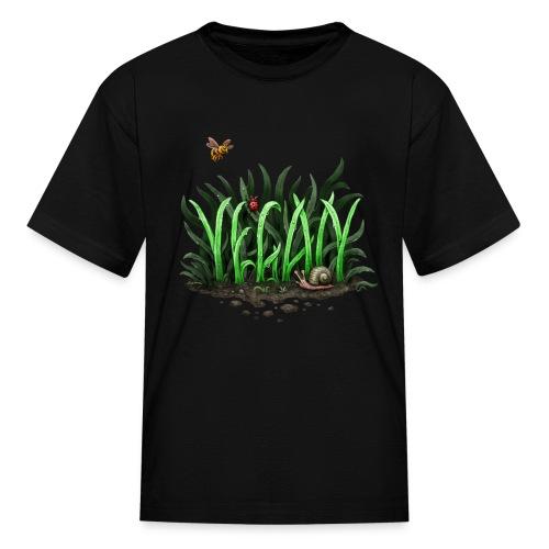 grow vegan - Kids' T-Shirt