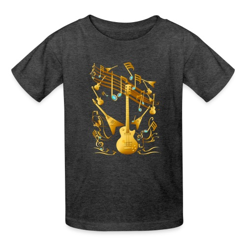 Gold Guitar Party - Kids' T-Shirt