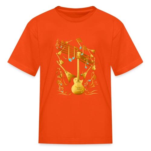 Gold Guitar Party - Kids' T-Shirt