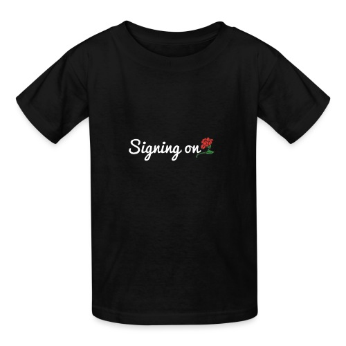 The Classic Signing On Print - Kids' T-Shirt