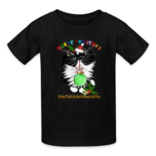 A Tuxedo Kitten Christmas - Kids' T-Shirt
