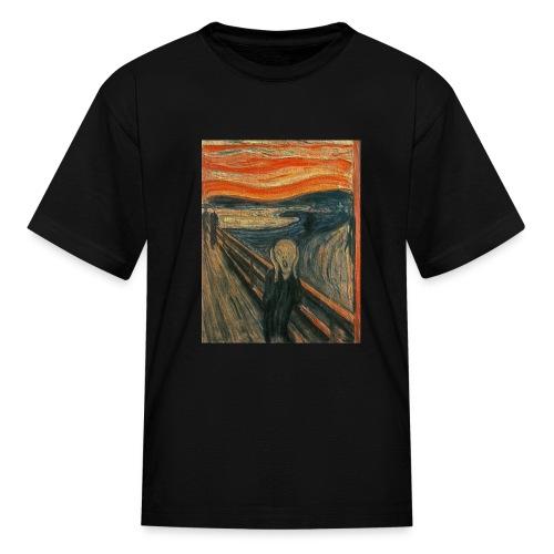 The Scream (Textured) by Edvard Munch - Kids' T-Shirt