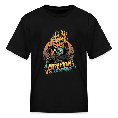 Pumpkin vs Zombie - Kids' T-Shirt