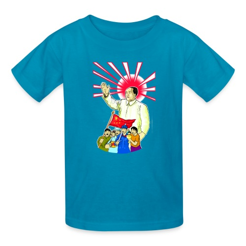 Mao Waves To His Supporters - Kids' T-Shirt