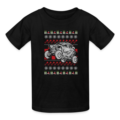 UTV Racing Christmas - Kids' T-Shirt