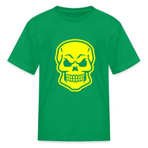 Skull vector yellow - Kids' T-Shirt