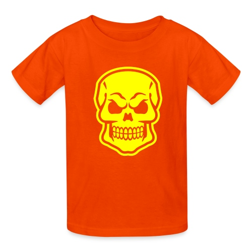 Skull vector yellow - Kids' T-Shirt