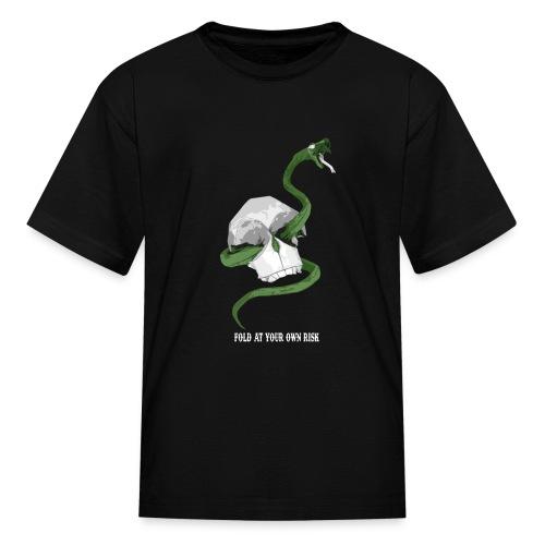 Origami Snake and skull - Kids' T-Shirt
