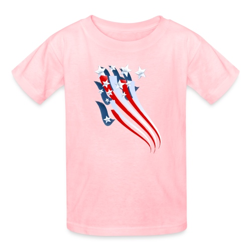 Sweeping American Flag - Kids' T-Shirt