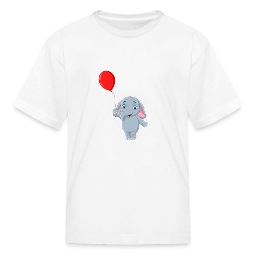 Baby Elephant Holding A Balloon - Kids' T-Shirt