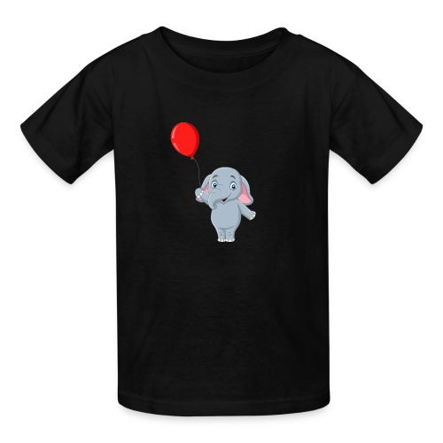Baby Elephant Holding A Balloon - Kids' T-Shirt
