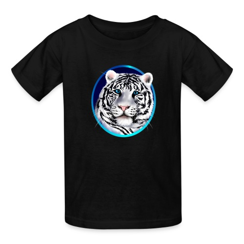 Framed White Tiger Face - Kids' T-Shirt