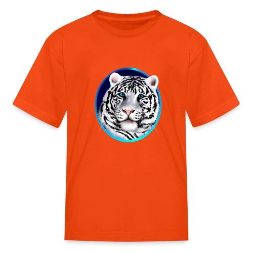 Framed White Tiger Face - Kids' T-Shirt