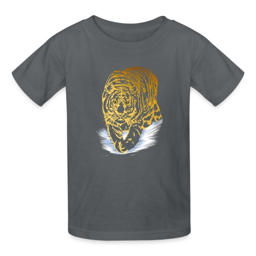 Golden Snow Tiger - Kids' T-Shirt