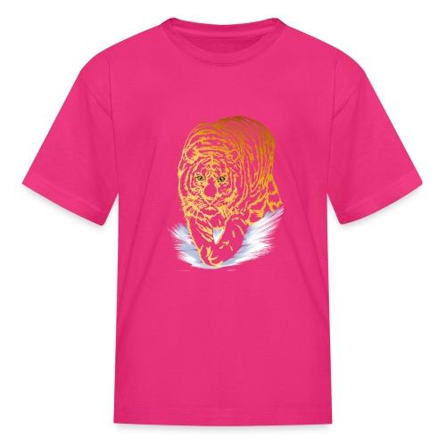 Golden Snow Tiger - Kids' T-Shirt