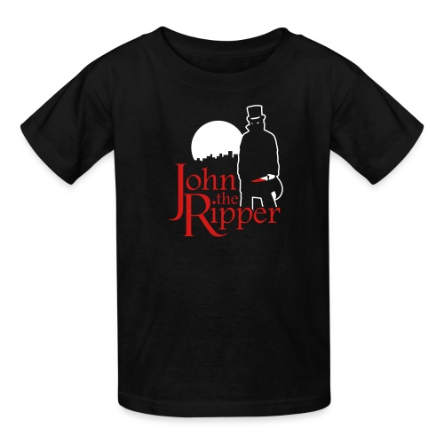 Evil John The Ripper Dark background - Kids' T-Shirt