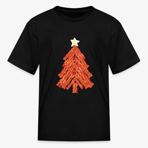 Funny Bacon and Egg Christmas Tree - Kids' T-Shirt