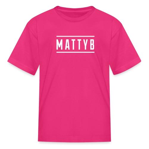 MattyB White Logo - Kids' T-Shirt