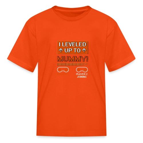 I Leveled Up To Mummy - Kids' T-Shirt