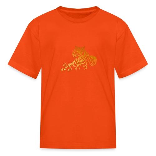 Gold Tiger - Kids' T-Shirt