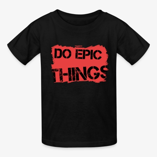 Litty crayola Do Epic Things Youtube Logo - Kids' T-Shirt