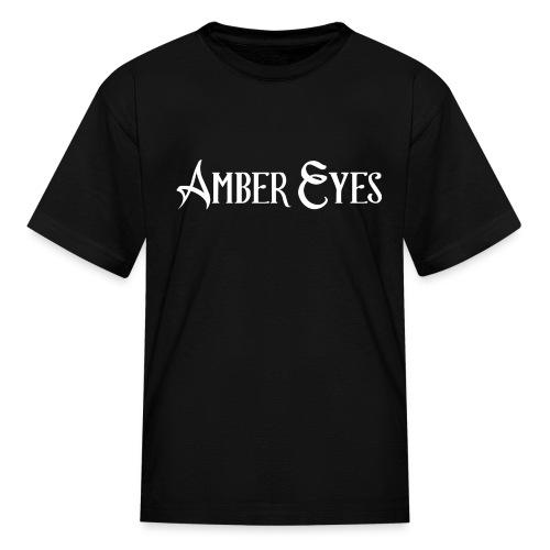 AMBER EYES LOGO IN WHITE - Kids' T-Shirt