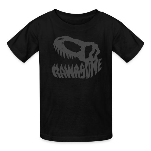 RAWRsome T Rex Skull by Beanie Draws - Kids' T-Shirt