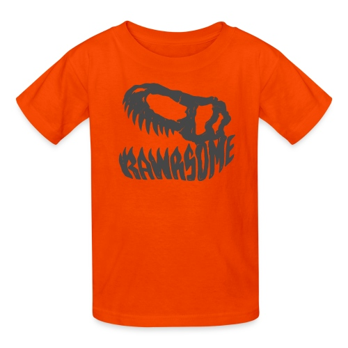 RAWRsome T Rex Skull by Beanie Draws - Kids' T-Shirt