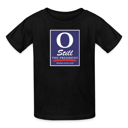 obama won shirts 300dpi - Kids' T-Shirt