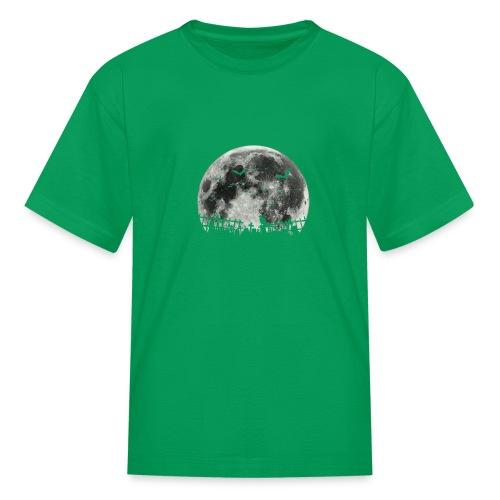 Scary Halloween moon - Kids' T-Shirt