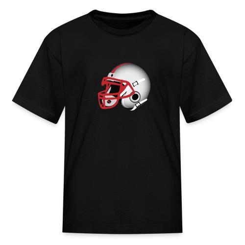 Custom Football Helmet Red on White - Kids' T-Shirt
