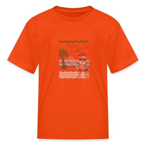 Ugly Christmas Sweater Hawaiian Dancing Santa - Kids' T-Shirt