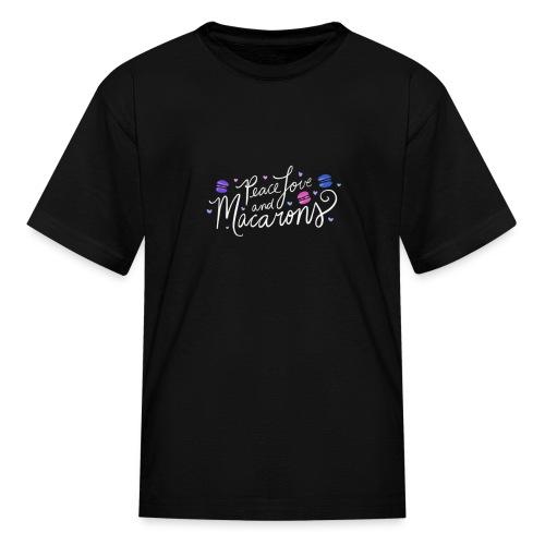 Peace Love and Macarons - Kids' T-Shirt