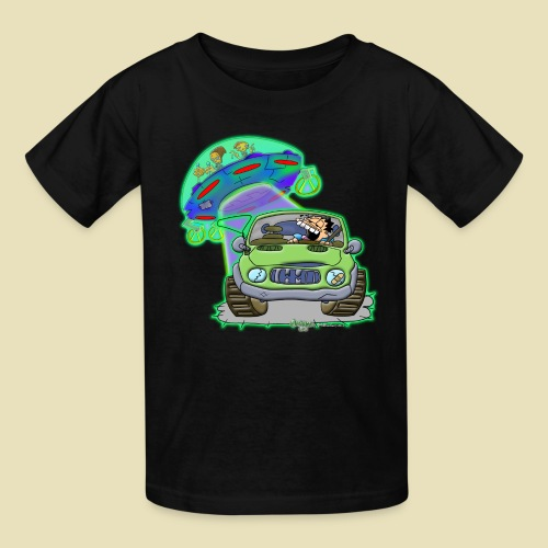 GrisDismation Ongher's UFO Alien Abduction - Kids' T-Shirt