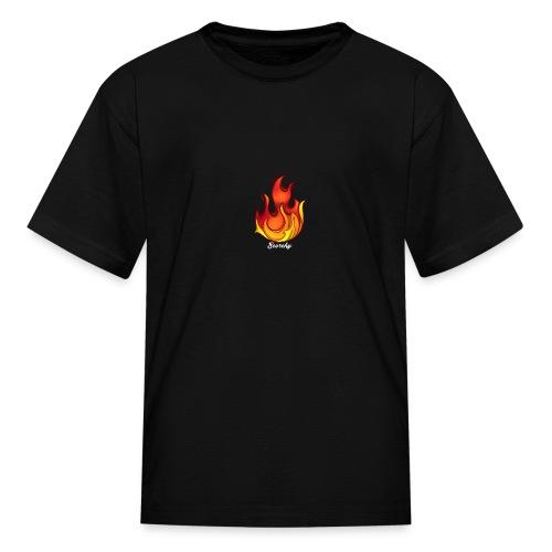 Scorchy White Logo - Kids' T-Shirt