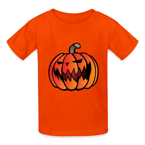 Halloween Scary Pumpkin Cartoon Illustration - Kids' T-Shirt