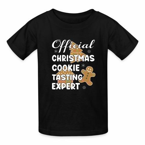 Funny Official Christmas Cookie Tasting Expert. - Kids' T-Shirt