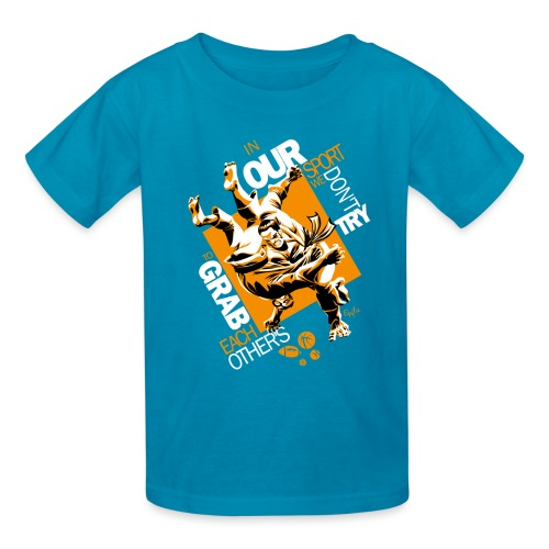 Judo Grab Design for dark shirts - Kids' T-Shirt