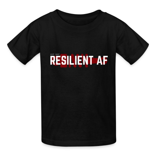 RESILIENT WHITE with red - Kids' T-Shirt