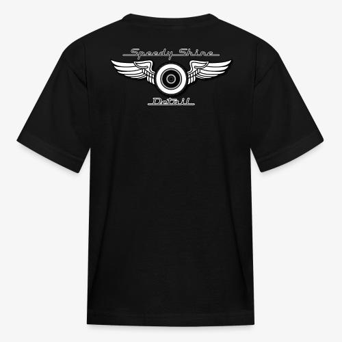 Black Speedy Shine Detail Logo - Kids' T-Shirt