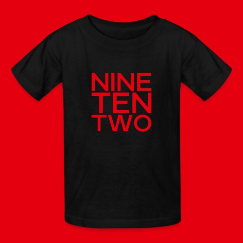 Red NineTenTwo Logo Text - Kids' T-Shirt