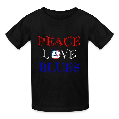 Peace, Love and Blues - Kids' T-Shirt