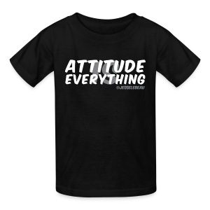 AIE Attitude Overlay White - Kids' T-Shirt