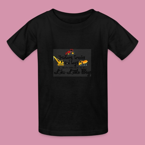 trucks and boys - Kids' T-Shirt