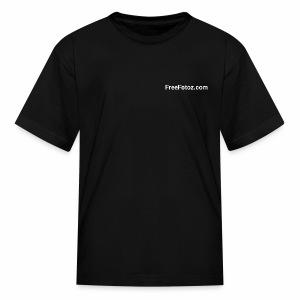 FreeFotoz.com in white - Kids' T-Shirt