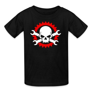 Gearhead Skull and Crossed Wrenches - Kids' T-Shirt