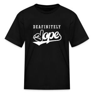 Deafinitely Dope Logo In White - Kids' T-Shirt
