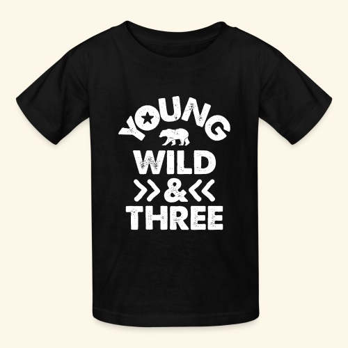 YOUNG WILD AND THREE TSHIRT - Wild Things Shirt - Kids' T-Shirt